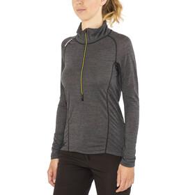 Devold W's Running Zip Neck LS Shirt Anthracite
